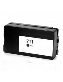 HP 711XL V4/V5 NEGRO CARTUCHO DE TINTA PIGMENTADA GENERICO CZ133A/CZ129A