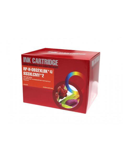 HP 932XL/933XL V4/V5 MULTIPACK DE 10 CARTUCHOS DE TINTA GENERICOS C2P42AE