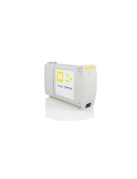 HP 80 AMARILLO CARTUCHO DE TINTA GENERICO C4848A