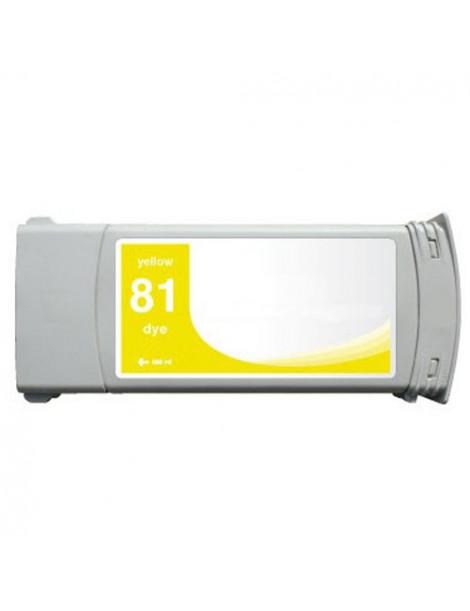 HP 81 AMARILLO CARTUCHO DE TINTA GENERICO C4933A