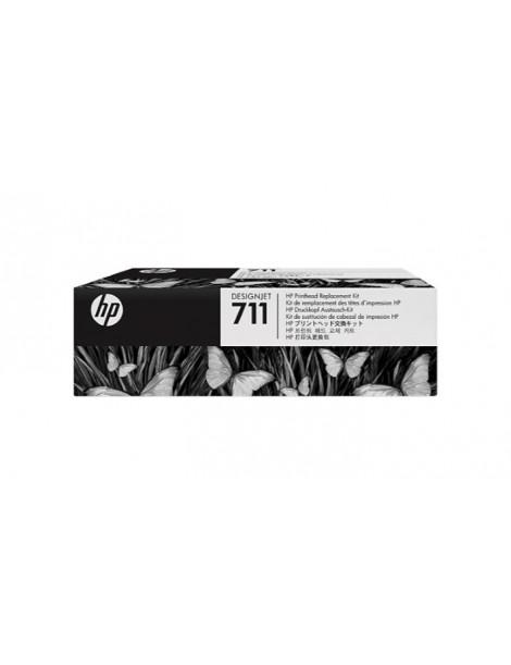 HP 711 CABEZAL DE IMPRESION ORIGINAL + KIT DE CARTUCHOS DE INICIO C1Q10A