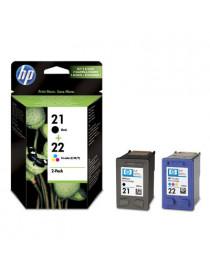 HP 21 NEGRO + 22 TRICOLOR MULTIPACK ORIGINAL SD367AE