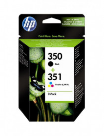 HP 350 NEGRO + 351 TRICOLOR MULTIPACK ORIGINAL SD412EE