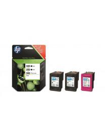 HP 2x 300 NEGRO + TRICOLOR MULTIPACK ORIGINAL SD518AE
