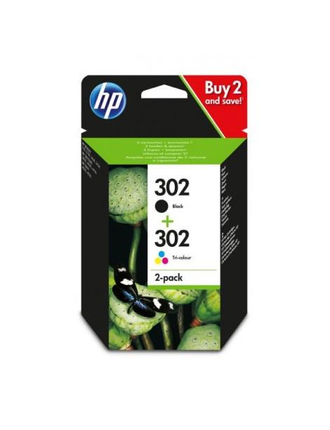 HP 302 NEGRO + TRICOLOR MULTIPACK ORIGINAL X4D37AE
