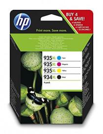 HP 934XL + 935XL MULTIPACK ORIGINAL 4 CARTUCHOS X4E14AE
